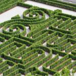 Venezia, 010-06-2011 - Labirinto Borges nell'isola di San Giorgio Maggiore alla Fondazione Cini