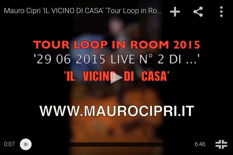 il vicino di casa, tour loop in room